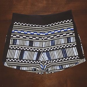 J Crew blue, white and black shorts